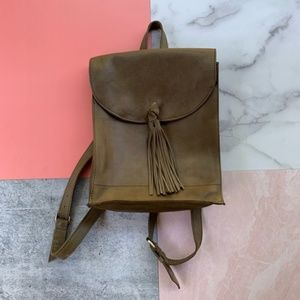 Raven + Lily Emerson Leather Tassel Backpack